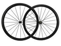Wholesale 700C Carbon Road Bike Wheels mm Clincher Bicycles T700 Full Carbon Fiber Bicycles Wheels H H Novatec Hub CN or Pillar Spokes