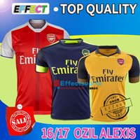 alexis soccer - Top quality Alexis Soccer Jerseys OZIL WILSHERE GIROUD WALCOTT RAMSEY CAZORCA Home Red Away Yello Third Green Football shirts