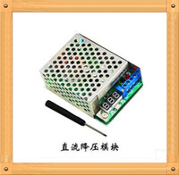 Wholesale A High Power W DC DC adjustable step down power supply module with a voltage meter display