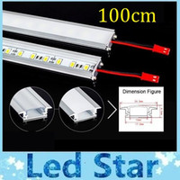 Wholesale 100cm Led Bar Light U Type Aluminum Alloy Slot W Led Rigid Strips Light Warm Pure Cool White SMD LED Tube Hard LED Strips V