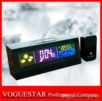 acoustic projection screen - Gifts clcok alarm radio weather Calendar Thermometer Backlight LED Screen Digital Alarm Clock Weather Report Desktop Clock Modern Unique