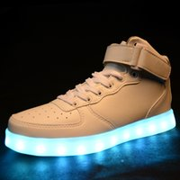 Cheap Hot Style LED Shoes Mens and Womens Casual Running LED Light Shoes