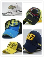 Wholesale New Design F1 Racing Cap Car Motorcycle Racing MOTO GP VR Rossi Embroidery Sport Hiphop Cotton Trucker Baseball Cap Hat