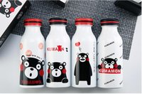 bags bear - Cola Shaped Insulated Double Wall Vacuum Water Bottle Mug ml oz Cute Kids Double layer Stainless Steel Cup Kumamoto Bear Printing