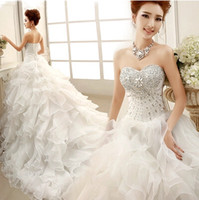 Wholesale Long Train Vintage Belt Wedding Dress Vestido Plus Size Bridal Belt Ball Gowns Dress Casamento Made in China