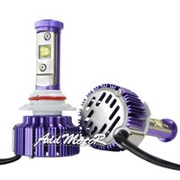 Wholesale Addmotor Purple Auto LED Headlight CREE LED K Cool White Bulbs w Clear Arc Beam Kit x Plug Play W LM LED Headlamp AP9006
