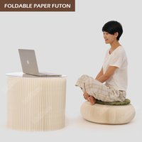 Wholesale Novel Innovation Funiture Pop Smart Futon Seat Indoor Yoga mat Universal Waterproof Accordion Style Foldable Kraft Single Seat White