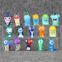 Wholesale 3 cm set Cute Slugterra PVC Action Fgure Collectable Model Toy for kids gift EMS