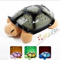 baby sleep songs - Musical Turtle Led Night Light Sky Star Novelty Lamp Children Toy Song Music Lighting Baby Sleep Light In Pink Yellow Green Blue