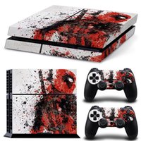 Cheap PS4 Skin Stickers + 2Pcs Controller Skin Console Stickers Dead Pool 2718
