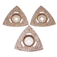 Wholesale 3pcs flush cutting Triangle diamond carbide Oscillating MultiTool saw blade for most brands of multi tool