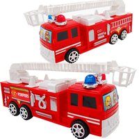 Cheap 1 pc Red Pull Back Fire Fighting Truck Model Kids Toy Cars Vehicle Toy Gifts for Baby Boys Girls wholesale and retail