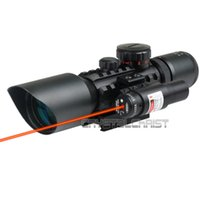 air soft rifle - Tactical New x Red Green Mil Dot Reticle Sight Rifle Scope With Red Laser Hunting Scopes Air Soft Tactical