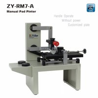 Wholesale ZY RM7 A Desktop Manual Pad Printer handle pad printing machine ink printer move ink printing machine