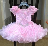 beautiful dance dresses - Beautiful Toddler Pageant Dress Fashion custom made girl dancing dress delicate pink dress