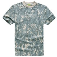 Wholesale Hunting Camouflage T shirt Men Breathable Army Tactical Combat T Shirt Multicam Military Dry Sport Camo Outdoor Camp Tees
