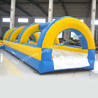 adult water slides - AOQI water park equipment long inflatable water slide cheap super water slide for adult in summerl