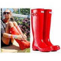 Wholesale Fashion Rain Boots Waterproof Women Men Wellies Boots Woman Rain Boots High Boot Rainboots glossy matte size multiple colors