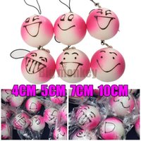 Wholesale 10CM Jumbo blush emotional face bun squishy for charm