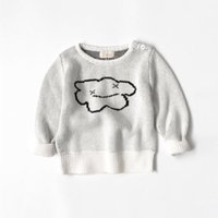 Wholesale 4PCS BOBO Style Unisex Baby Sweaters Kids White Clouds Cotton Knitted Pullover Tops Winter Children Clothes For Years