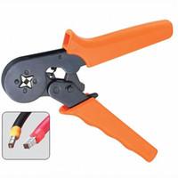 Wholesale Self Adjusting Ratcheting Ferrule Crimper Mini Crimping Plier HSC8 B00086 BAR