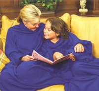 Wholesale With Retail Color box Snuggie Fleece Blanket with Sleeves Warm Blanket has Sleeves Colors Available Free DHL shipping