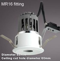 angle lamp holder - 2 inch MR16 downlight fixture Narrow beam angle bulb fitting lamp fixture MR16 bulb holder