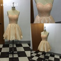 bandages online - Light Champang Pearls Cheap Homecoming Dresses Real Girls Dress Shopping Online New Backless Casual th Graduation Short Gowns Hot Sale
