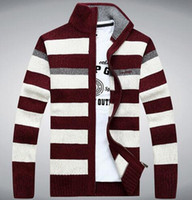 Wholesale New Arrival Casual Men Sweaters Fashion Mens Slim Zip Up Jackets Coats Winter Sweater Color