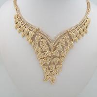 Perle collier pendentif Prix-Collier en or 18k plaqué or pour les femmes Collier en forme de bijoux collier Bijoux incrustés de perles
