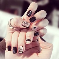 articles tips - Manicure finished set boxed fake nails fashion magazine article Crowley heart Manicure patch D37
