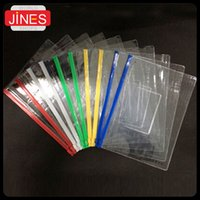Wholesale set stationery A4 A5 A6 high quality PVC transparent edge bags file bag Office amp School Supplies For Invoice Paper Data