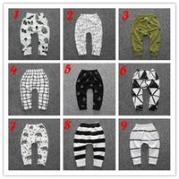 Wholesale Hot INS Baby Pants Baby Boys Girls Character Pants Fashion Newborn Baby Clothing Autumn Spring PP Pants Cotton Pants Trousers Styles