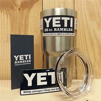 Wholesale YETI oz Cup Cooler YETI Rambler Tumbler For Travel Vehicle Beer YETI Mug Tumblerful Bilayer Vacuum Insulated ml Stainless Steel