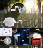 Wholesale Solar Power Solar Power LED Solar Light Led Fence Light lamp Outdoor Garden Sun Wall Corridor Lights Decoration Light