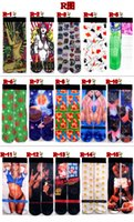 Wholesale 3D Printed Stocking New Pattern Hip Hop Cotton Sock Unisex SOX Emoji Animal Cartoon Captaion America sock pairs