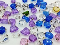 Wholesale 50pcs mixed designs classic Crystal Vials perfume oil via pendants charms handmade jewelry findings name on rice glass pendant
