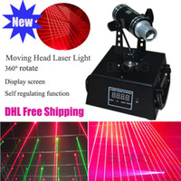 Wholesale 360 Rotation mw nm Red DMX512 Model Laser Light Mini Moving head Laser for DJ Bar Stage Laser Projector Effect of Laser Curtain Net