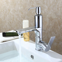 Wholesale With Soap Liquid Device Bathroom Basin Mixer Faucet Solid Brass Chrome Deck Mounted Sink Tap