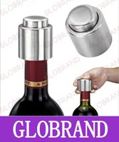 Wholesale GLXY31 Hot Selling Stainless Steel Vacuum Sealed Red Wine Storage Bottle Stopper Plug Bottle Cap Pressing Type Red Wine Stoppers