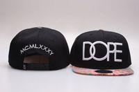 baseball cap packaging - Brand DOPE Rock Cap black circul letter hats for men women hip hop streetwear baseball hat snapback cap Box packaging