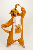Wholesale Hot Sale Lovely Cheap Kangaroo Kigurumi Pajamas Anime Pyjamas Cosplay Costume Adult Unisex Onesie Dress Sleepwear Halloween S M L XL