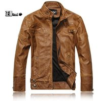 best mens leather jackets - Fall Best Seller brand leather jacket Leather Mandarin Collar Coat male Leather jacket men mens leather jackets and coats