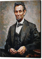 abraham lincoln paintings - USA president Abraham lincoln Fine Art Print High Definition on Waterproof Cotton Jesscia the Museum of Original Artwork Hot Selling Unfram