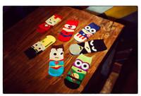 Wholesale Fashion men s socks colors cute cartoon ankle socks cool breathable cotton unisex superhero socks