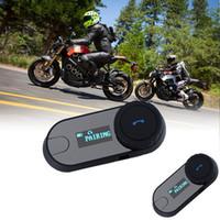 Wholesale 2016 New Version BT Bluetooth Motorcycle Helmet Intercom Interphone Headset with LCD screen FM Radio