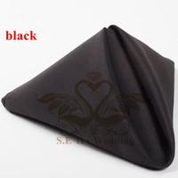 Wholesale Black Color Poly Napkin For Wedding Decoration cm cm Good Quality