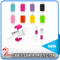 iphone 5 lightning cable - USB Lightning Data Charger Cable Saver Protector For iPhone s S Plus ES ipad Headset Protection Earphone Wire Cord Protective
