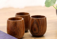 Wholesale Wood Tea Cup Wooden Cup Eco friendly Pot bellied Cup