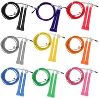 Wholesale crossfit adjustable Speed Cable Jump Ropes steel wire m long adjustable wire rope skipping